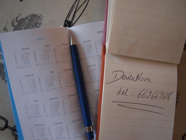 Gotowość porodowa douli_kalendarz doulaNova
