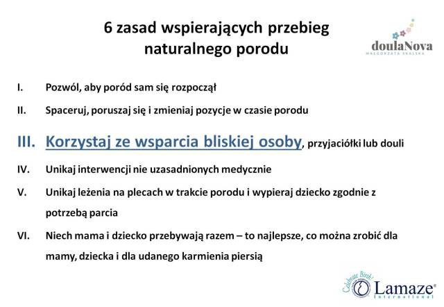6 zasad Lamaze_poród naturalny
