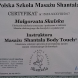 Masaż Shantala Body Touch - dyplom